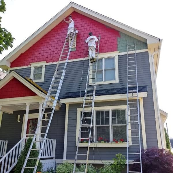 exterior paint red